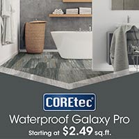 COREtec Waterproof Galaxy Pro starting at $2.49 sq.ft. this month at Floors 55 in Portland and Oregon City.