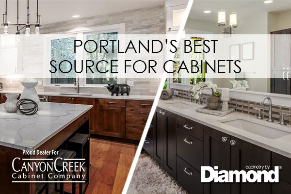 Portland's Best Source for Cabinets including brands by Canyon Creek Cabinet Company and Cabinetry by Diamond.