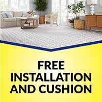 Free installation and cushion with any Stainmaster or Infinity carpet purchase during our Year End Flooring Clearance Event