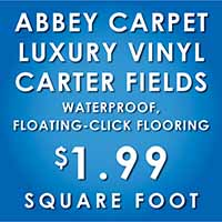 Purchase Abbey Luxury Vinyl Carter Fields waterproof, floating-click flooring for only $1.99 sq ft. See color options.
