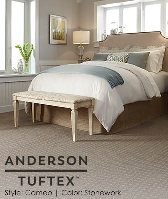 Anderson/Tuftex Cameo Stonework Bedroom Carpet Roomscene