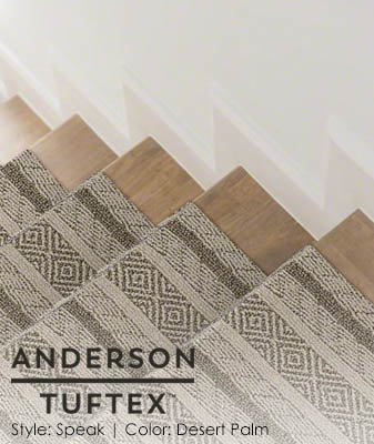 Anderson/Tuftex Speak Desert Palm Stair Carpet Roomscene