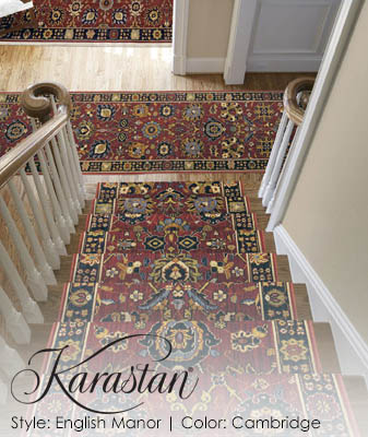 Karastan English Manor Cambridge Stair Carpet Roomscene