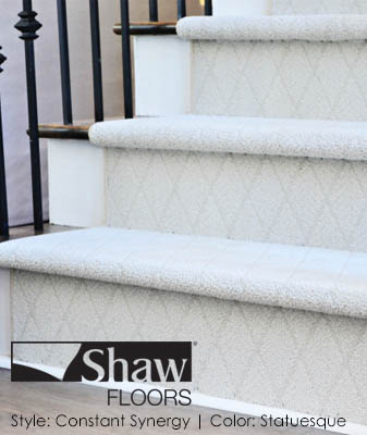 Shaw Constant Synergy Statuesque Stair Carpet Roomscene